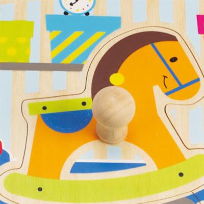 Đồ chơi Ghép hình đồ chơi Hape My Toys Knob Puzzle