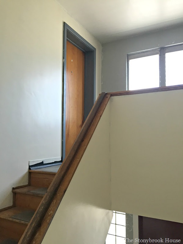 Upstairs painted