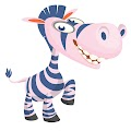 Cartoon Funny Zebra Free Download Vector CDR, AI, EPS and PNG Formats