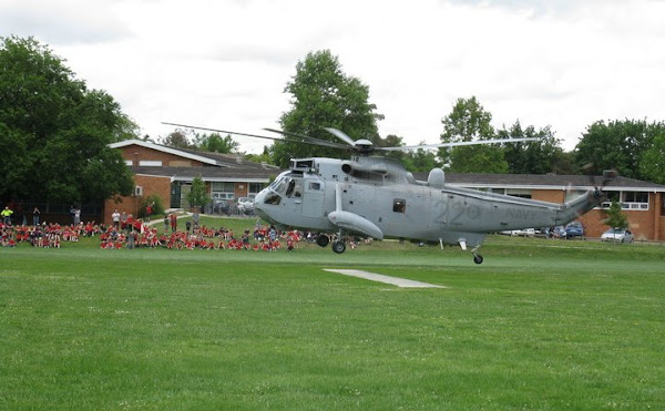 sea king at Curtin primary