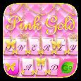 PinkGold GO Keyboard Theme