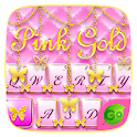 Pink Gold GO Keyboard Theme icon