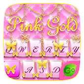 Pink Gold GO Keyboard Theme