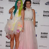 WWW.ENTSIMAGES.COM -   Lyndsay Pagan and Jenn Coyle   at    Scottish Fashion Awards  at 8 Northumberland London October 9th 2013                                                 Photo Mobis Photos/OIC 0203 174 1069