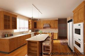 Kệ bếp gỗ 20
