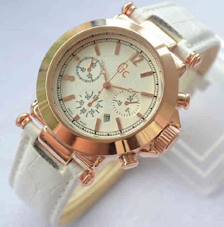jam tangan Gc date ring rosegold white