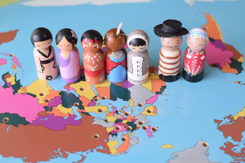 Peg Dolls with Traditional Costumes