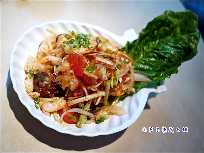 6 酸辣鮮蝦沙律
