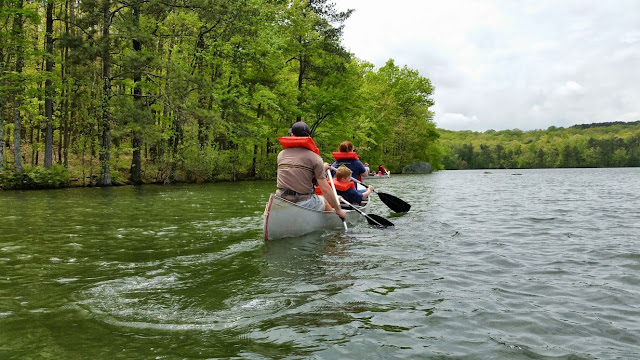 Canoeing on Republic Lake at Camp Comer