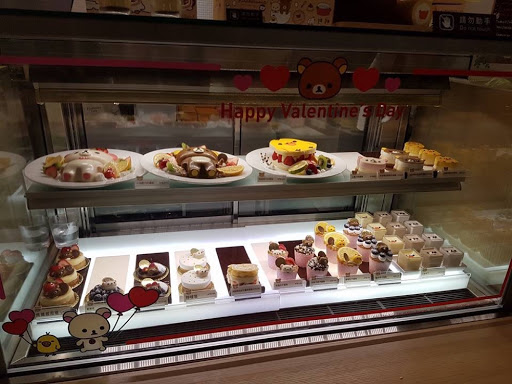 Cake display from Rilakkuma Cafe in Taipei Taiwan