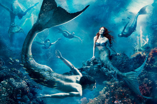The Little Mermaid Annie Leibovitz, Mermaids
