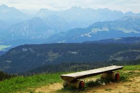 Am Gipfel Rangiswangerhorn Blick Bolgen und Rindalphorn Allgäu