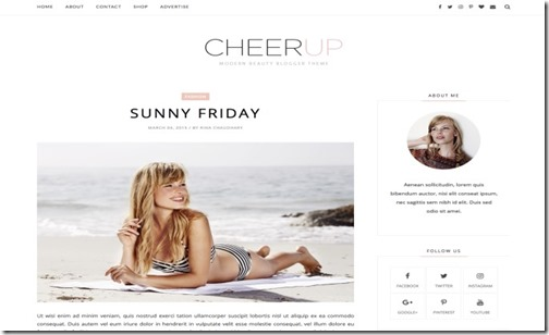 Cheerup-Clean-Blogger-Template