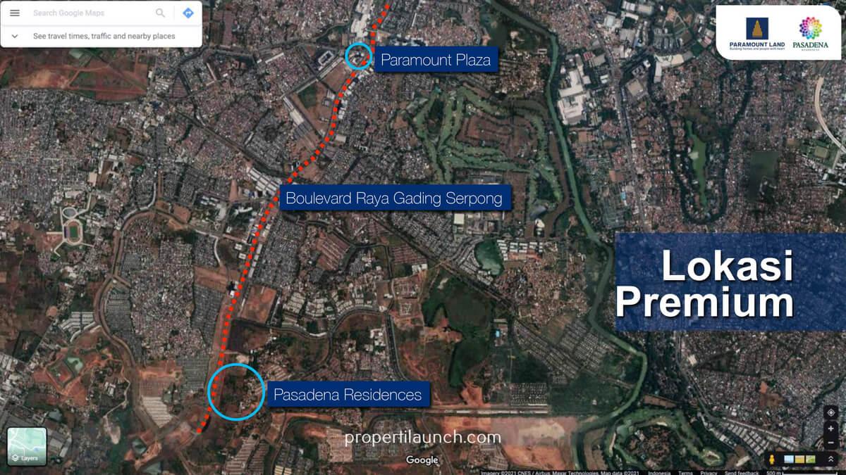 Google Map Lokasi Pasadena Residences