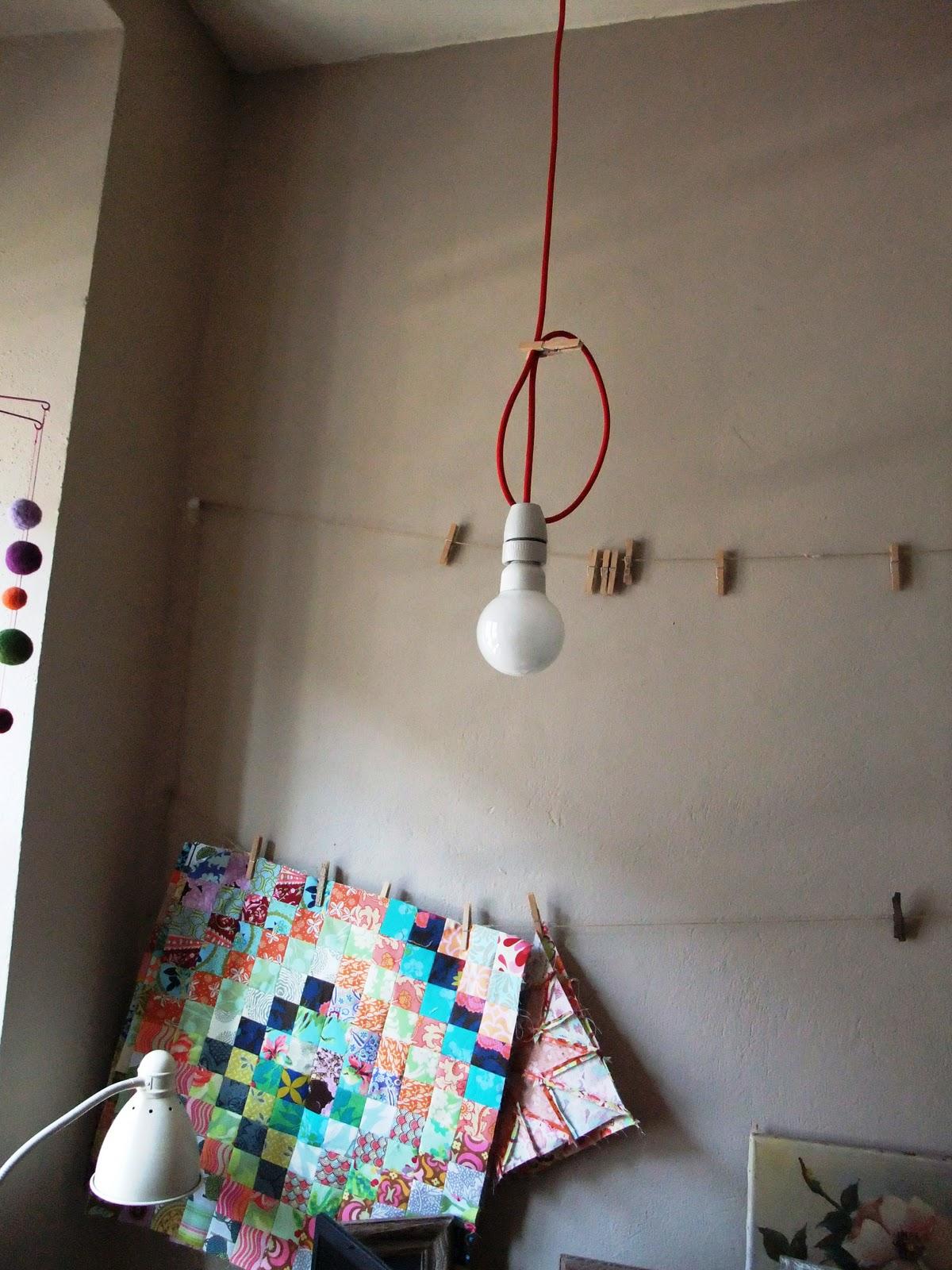 Fadensinn textilkabel lampen basteln for Lampen basteln