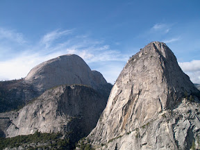 Liberty Cap and Mount Broderick from the John Muir Trail