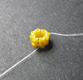 Securing a Ladder Stitch Ring