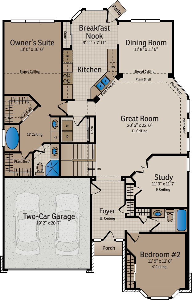 New home builder floor plans and home designs available for Bainbridge design