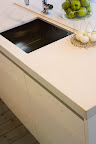 Divinity Crema Anticato kitchen worktop, with recessed sink & drainer cut out