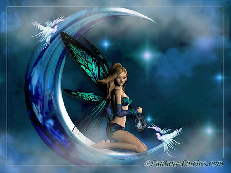 Moon Fairy Wallpaper Fairies, Fairies Girls
