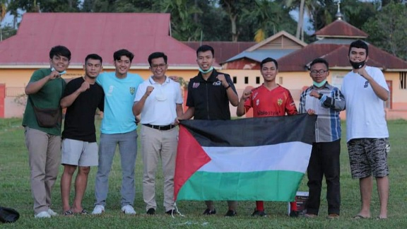 Erwin Yunaz Buka Laga Amal Sepak Bola Bantu Galang Donasi Buat Palestina