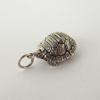 Sterling Silver Turtle Locket Pendant