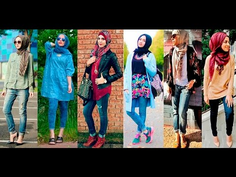 AMAZING CASUAL HIJAB OUTFITS DESIGNS FOR LADIES 2019 8
