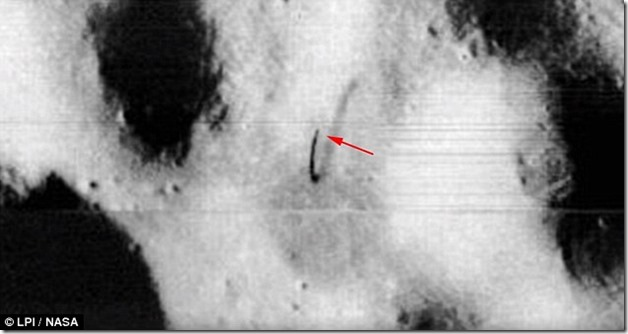 the antenna is located in the picture of the moon