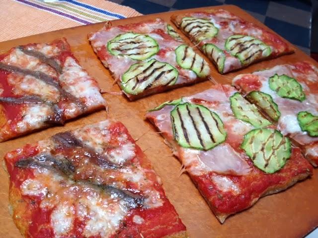 pizza integrale goduriosa!!