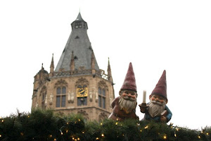 Gnomes at the Christmas Market in the old town in Cologne Germany