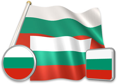 Bulgarian flag animated gif collection