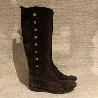 Chanel Brown Suede Calf Boots