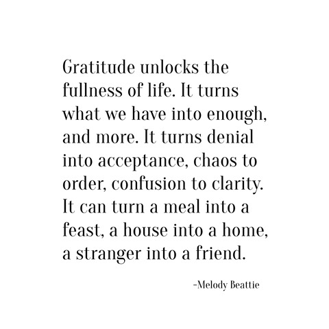 gratitude -- melody beattie
