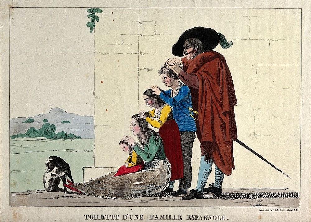 El aseo de una familia española, según los franchutes (1812).