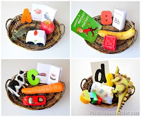 Object Baskets for Letters A to H