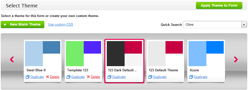 Select Theme