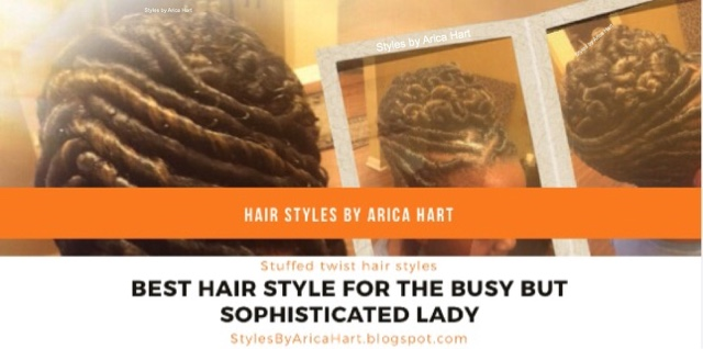 stuffed twist hairstyles