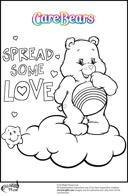 These Care Bear Coloring Pages Do Reminds Me Of The Cute Horses In My  Little Pony It Is Not That The Bears Look Like Ponies It Is More Abo