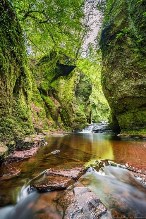 Finnich Glen Devils Pulpit Scotland