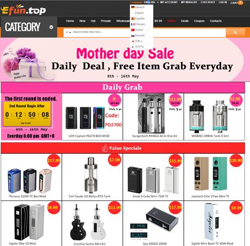 Efun.top1 thumb2 - 【TIPS】海外購入解説#05海外購入簡単です!Efun.topでお得なVAPE新着商品を入手しよう【VAPE/電子タバコ/海外ショップ】