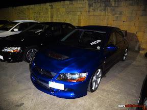 Blue Mitsubishi Evo 9
