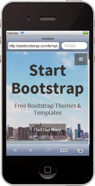 Free Bootstrap Themes Smartphone Screenshot