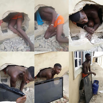 See How This Man Broke Into Someone's House To Steal But He Was Caught Red-Handed