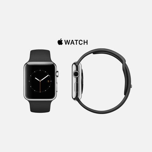 Apple Watch ステンレススチール ブラックスポーツバンド