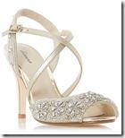 Linea cross strap peep toe sandals