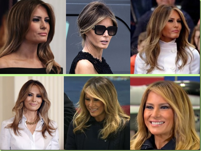 melania transitioning to blonde