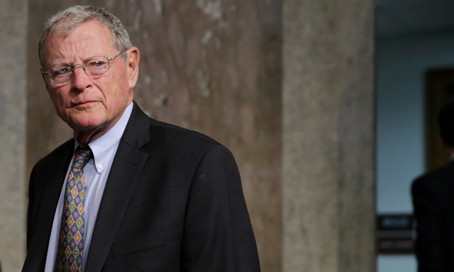 James Inhofe: climate change's biggest enemy in the Senate, and the co-author of the letter to Trump to withdraw from the Paris climate accord. Photo: Chip Somodevilla / Getty Images