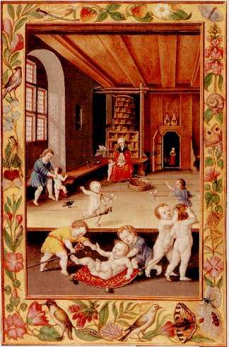 Children At Play From Splendor Solis, Hermetic Emblems From Manuscripts 1