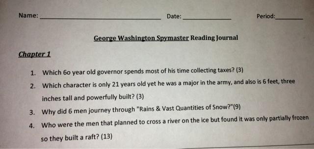 george washington spymaster