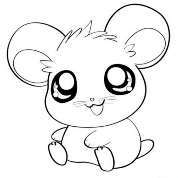 Coloring Pages Kawaii Pinterest On Kawaii Animal Coloring Pages